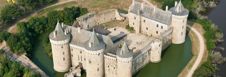 châteaux de la Loire vue du ciel